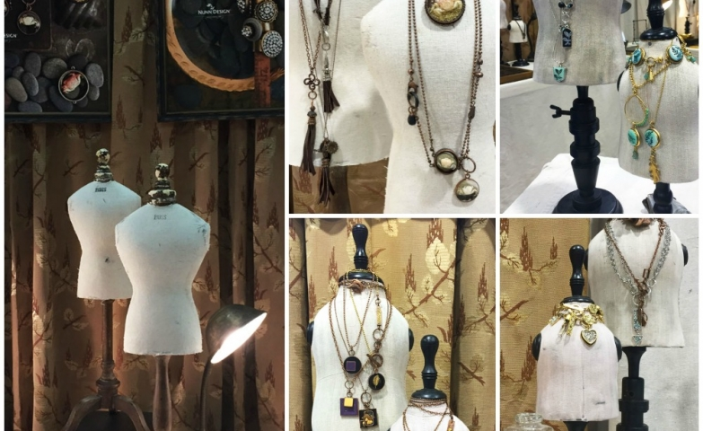 Tips and ideas to create a display for a trade show, especially for vintage and retro pieces.