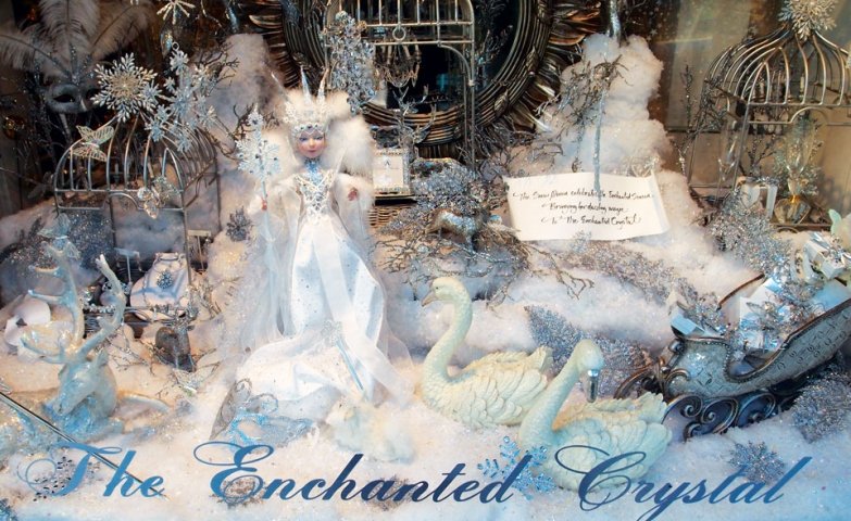 Feels like everything is crowded in this winter window display at Enchanted Crystal but you can spot many proper things for this season, among them is a winter fairy.