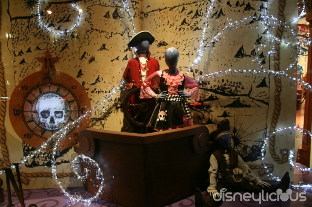 At world of Disney, Halloween arrived with sparkly little lights, little pirates and a deathly magnetic compass