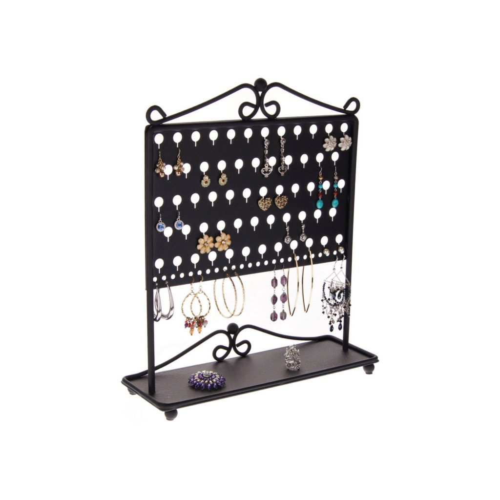 A creative figure from recycled us carbon, steel, and metal, good as a jewelry earring holder with a storage capacity of 43 pairs.