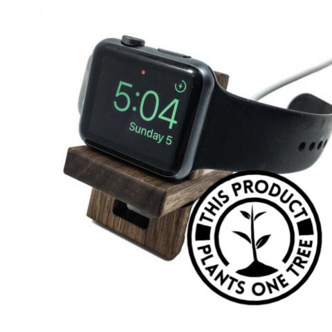 Made from wood, this slick and minimalist design is good as a jewelry apple watch holder. It is handcrafted and has a superior quality.