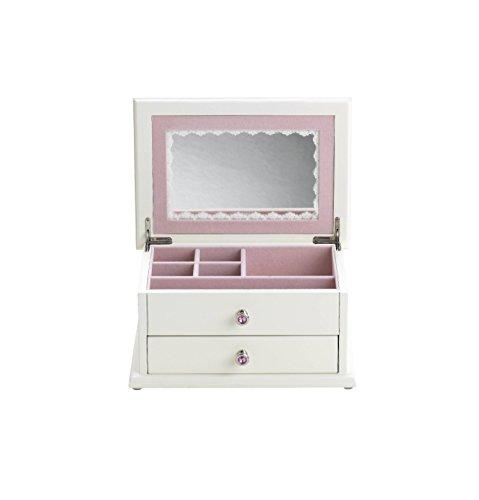 Small White Secret Princess Themed Jewelry Box With Drawers Zen