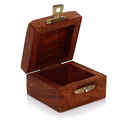Small Wooden Jewelry Box - Indian Handmade Box With Brass ...