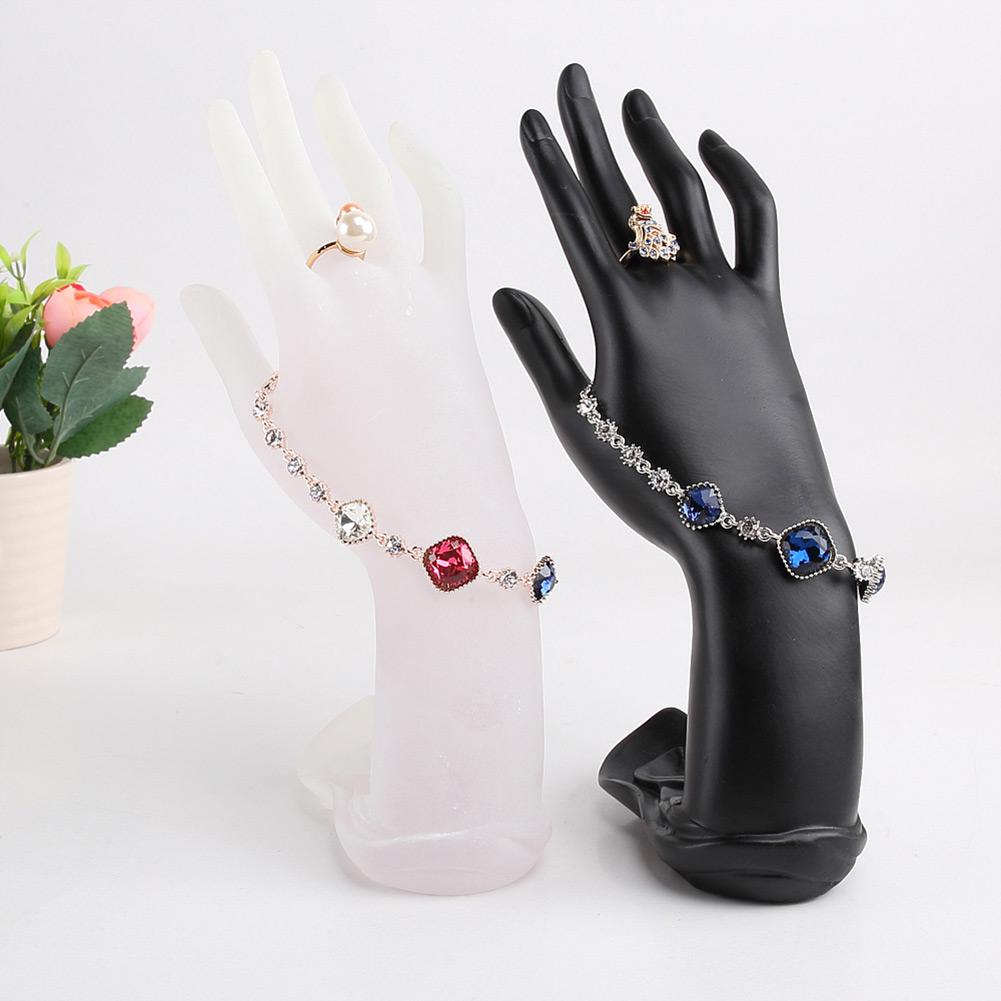 Elegant Black White Mannequin Hand Bracelet Holders