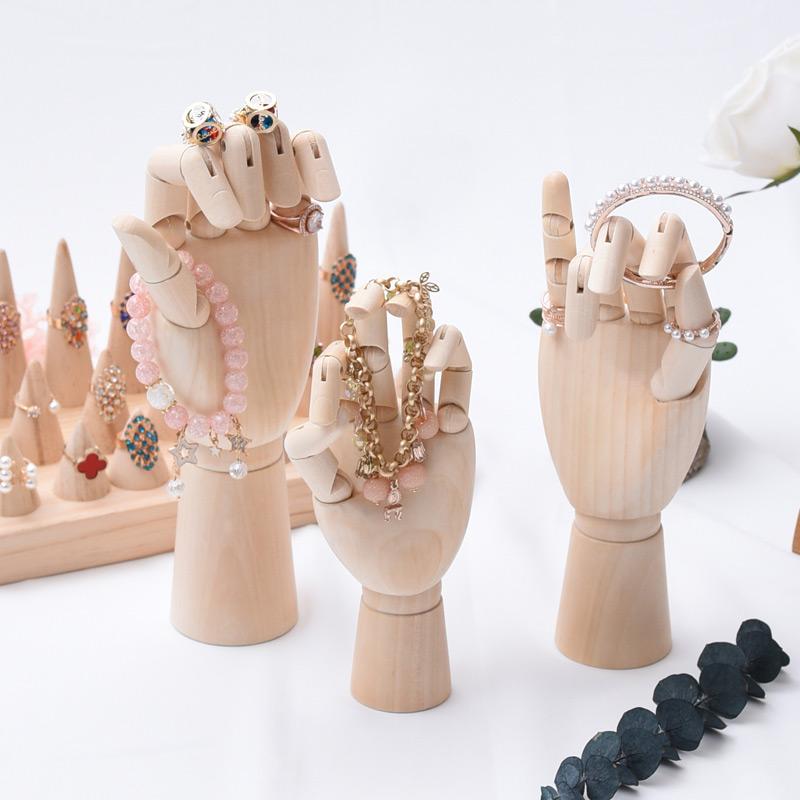 Beautiful Wooden Mannequin Hands Bracelet Holders Set
