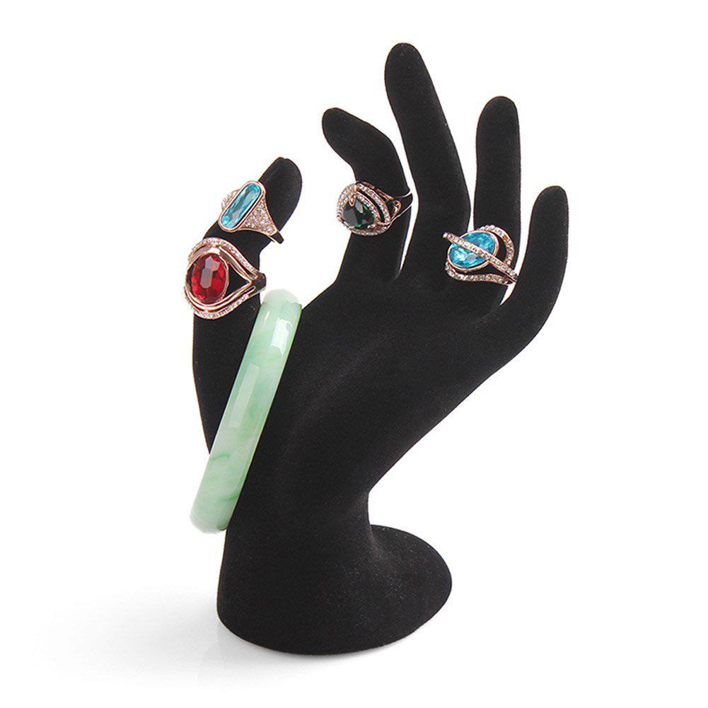 Elegant Black Open Mannequin Hand Bracelet Holder