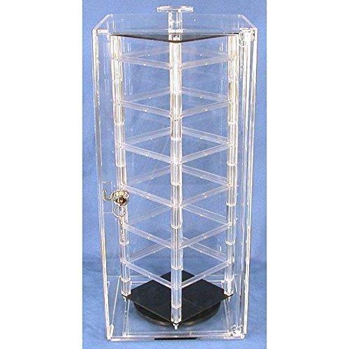 40 Card Revolving Earrings Jewelry Display Case Stand Zen Mesmerizing Revolving Jewelry Display Stand