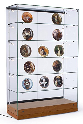 ... Curio Display Cabinet With 10 Side Lights U0026 5 Adjustable Glass Shelves.  ; 