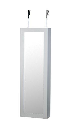 white over the door wall mount jewelry armoire cabinet organizer zen merchandiser. Black Bedroom Furniture Sets. Home Design Ideas