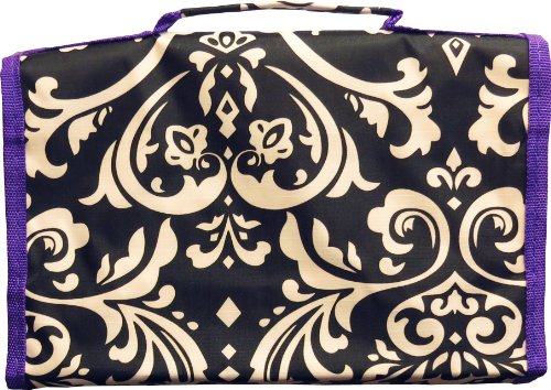 Damask Design Hanging Jewelry Travel Roll Organizer Zen Merchandiser