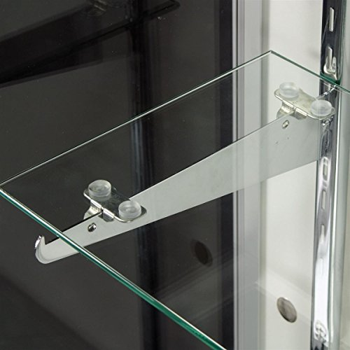 Free-Standing Glass Display Cabinet, Tempered Glass And