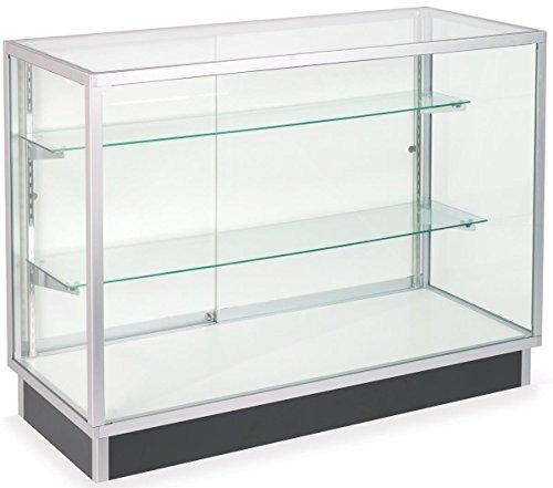 medium free standing aluminum frame tempered glass display cabinet