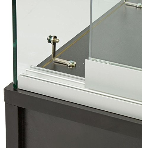 Free standing tempered glass display case with standing for 18 x 48 window
