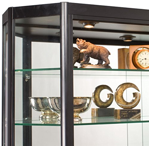 Wall Mounted Illuminated Angling Glass Jewelry Display Cabinet With