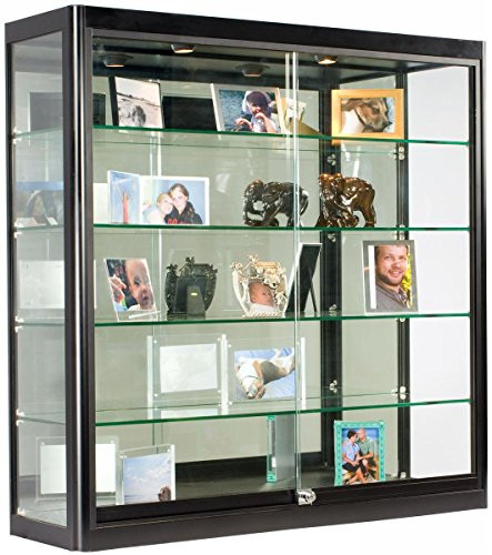 Cases Wall Mounted Standing Gl Jewelry Display Case Cabinet With Lockable Sliding Doors