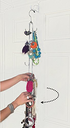 Tall Rotating Wall Hanging Over The Door Jewelry Organizer