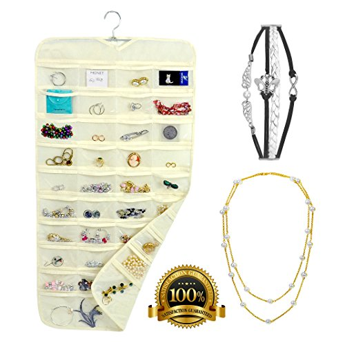 80 Side Pockets Large Multipurpose Wall Mounted Hanging Jewelry