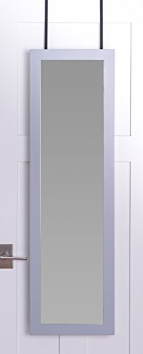 Wall Mounted Full Length Mirror Door Hanging Jewelry Cabinet Armoire