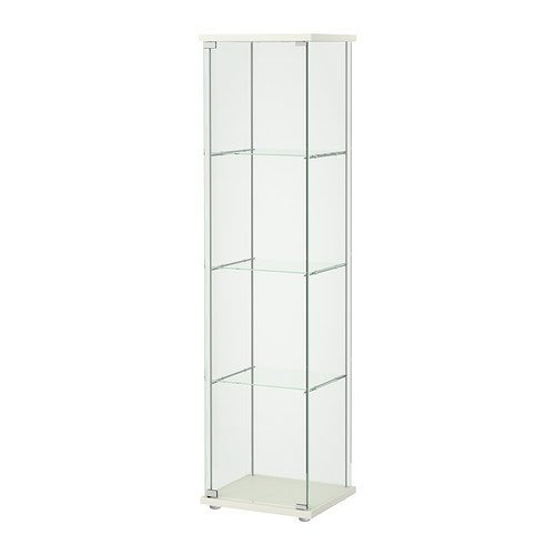Lighted Glass Curio Display Cabinet Jewelry Tower
