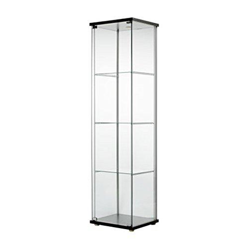 IKEA 101.192.06 Glass Door Cabinet, Black Brown