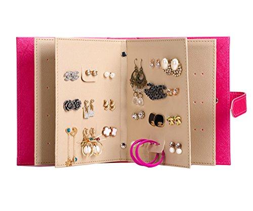 Book Shaped Portable Foldable Jewelry Travel Organizer Zen