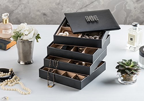 4 Jewelry Organizer Trays Jewelry Display Case Drawer Organizer