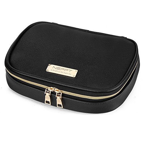 Small Black Zippered Jewelry Pouch Travel Case Organizer Zen
