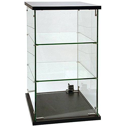 Frameless Temperated Gl Lockable Countertop Showcase Display Case 13 L X H 24 W