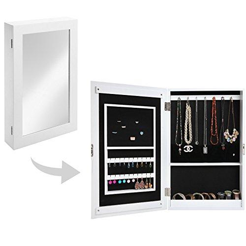 Mirrored Jewelry Organizer Cabinet