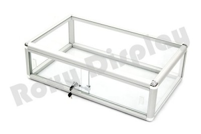 30u2033 countertop front lock glass aluminum frame display showcase