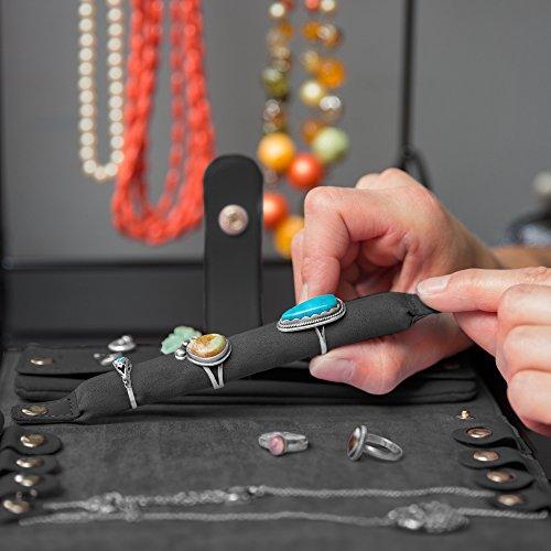 Black 2 Pouch Folding Jewelry Travel Organizer Case Zen Merchandiser