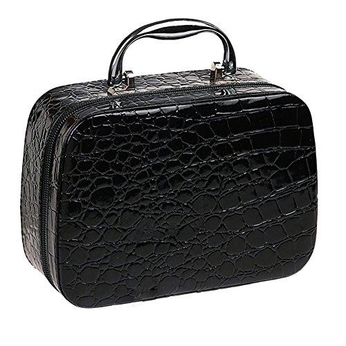 Ttnight 20 X 7 X 14 5 Cm Pro Makeup Train Storage Bag Case Jewelry Box Travel Toiletry Bag Cosmetic Artist Organizer