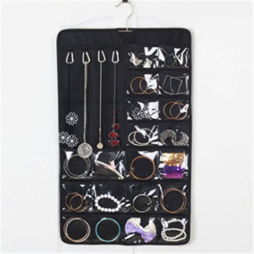 Simple Small Black OverTheDoor Wall Hanging Jewelry Organizer