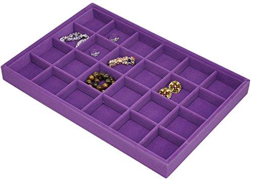 Jewelry drawer organizers for sale zen merchandiser for Velvet jewelry organizer trays