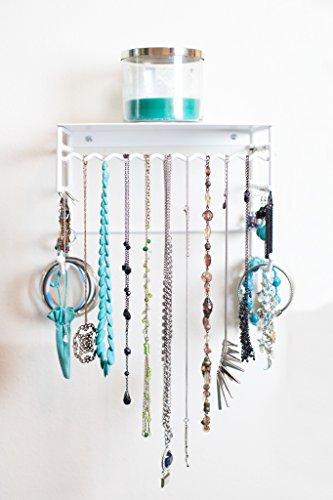 Small Flowing Wall Mounted Jewelry Organizer Zen Merchandiser