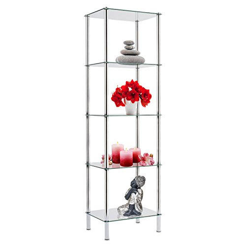 Cases 5 Tier Gl Tower Shelving Unit Display Case