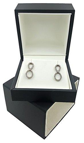 Elegant Black Sleeve Earring Ring Necklace Bracelet Gift Box