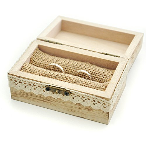 wedding ring box rustic wooden wide wedding ring bearer box zen merchandiser 9935