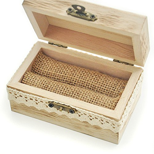 Wooden rustic wedding ring bearer box with linen lining zen ring bearer box with linen lining junglespirit Image collections