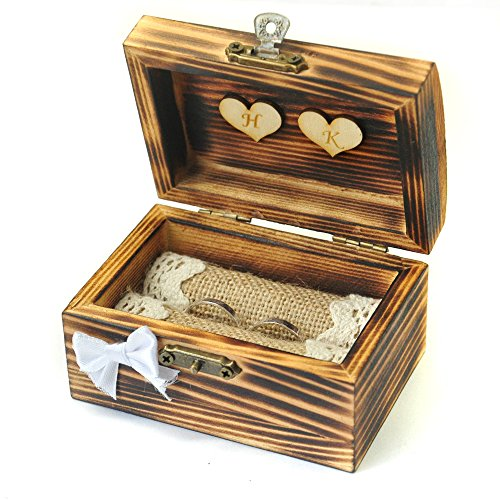 wedding ring box vintage wooden personalized wedding ring box amp ring bearer 9935
