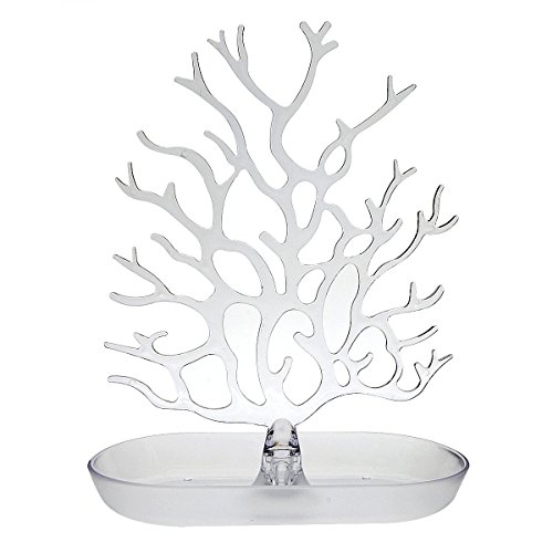 Wide Large Ring Tray Dish White Jewelry Tree Holder Organizer Beauteous Large Jewelry Tree Display Stand