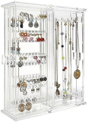 MiniArmoire Style Acrylic Clear Large Capacity Jewelry Organizer