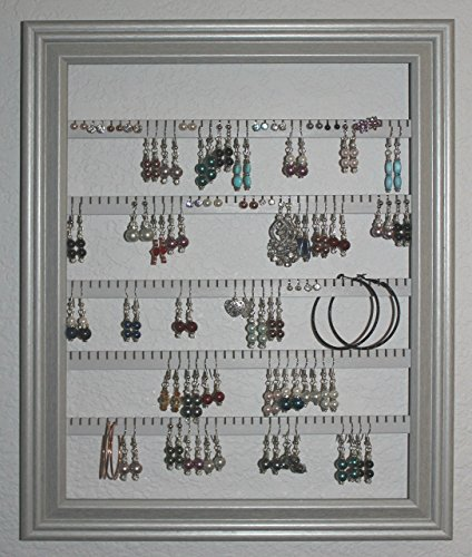 Large Wall Mounted Picture Frame Style Earring Holder - 100 Pair ...