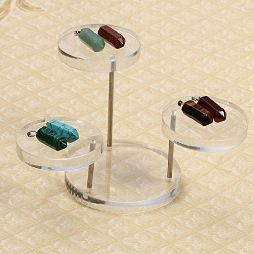 159b94db7 ... Clear Round Button Acrylic Jewelry Display Stand Earring Necklace Ring  Organizer Display Shelf. ; 