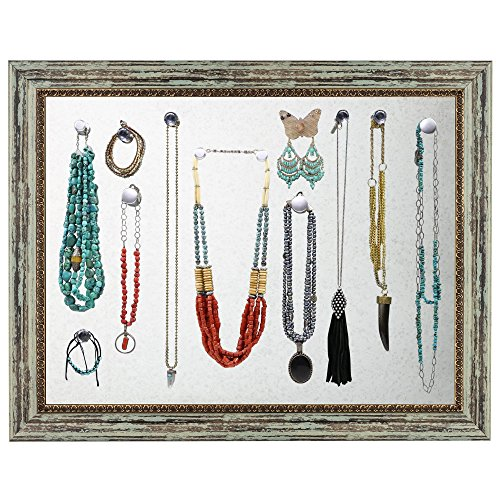 Large Magnetic Wall Mounted Picture Frame Jewelry Holder & Organizer ...