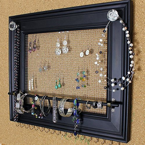 Custom Jewelry Display Frame: Rustic Looking Extra Large Wall Mounted Picture Frame