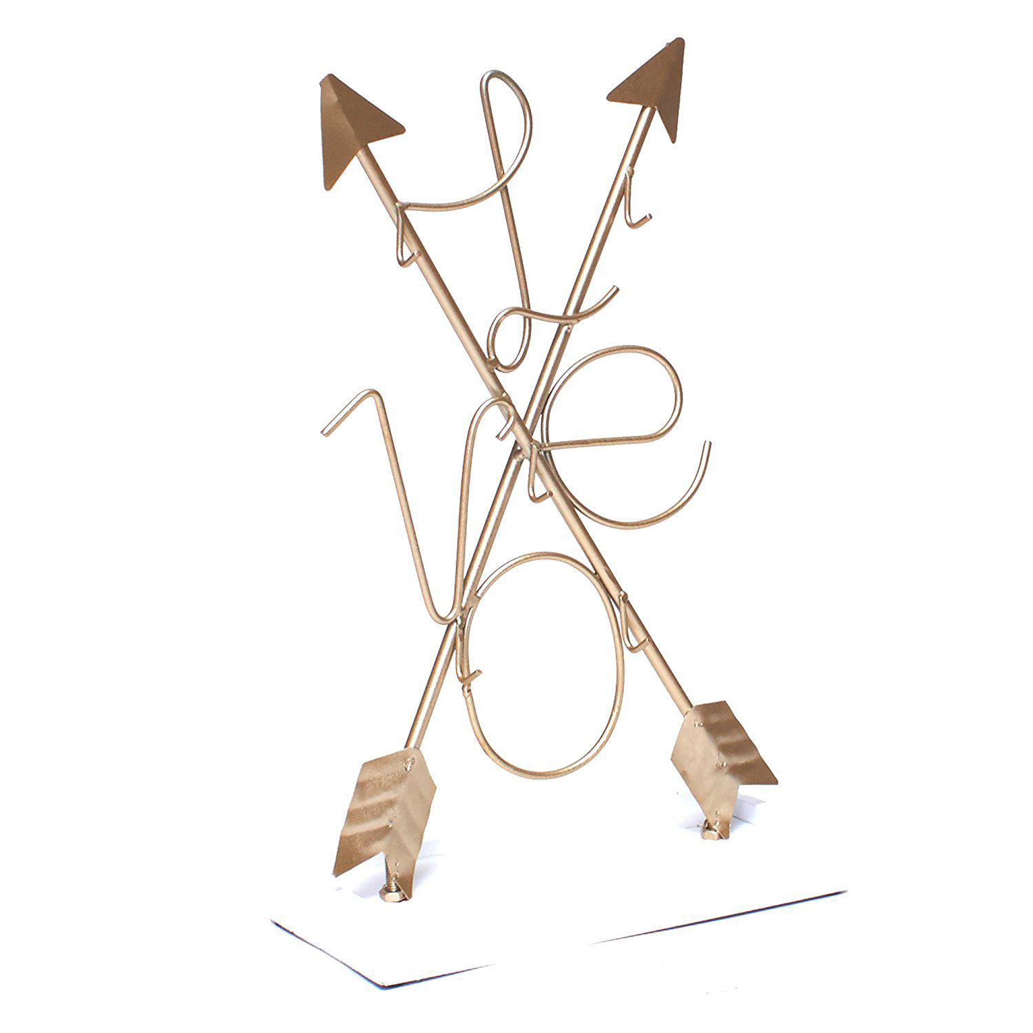 Creative Golden Arrows Shaped Jewelry Tree Holder