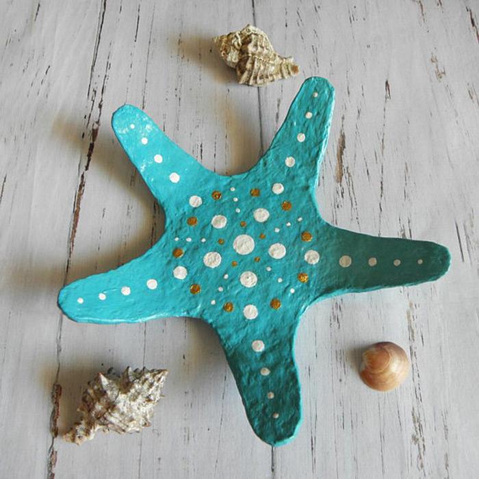 Light Blue Star Shaped Ring Holder Dish