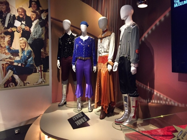 Funky fashion is going a little disco for the New Year's Eve display in Stockholm.