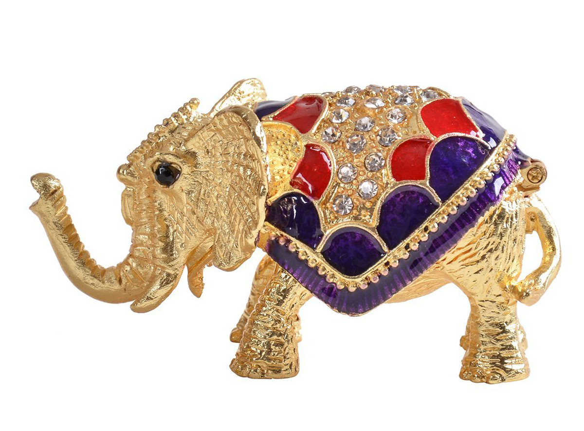 Gold Colored Decorative Elephant Ring Holder